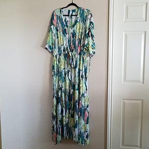 Melissa McCarthy 1x Tiered Maxi Dress 2x